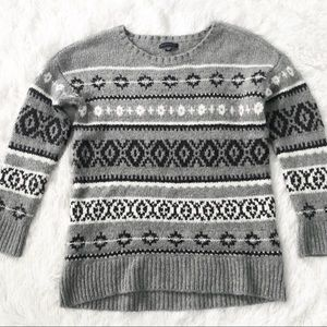 American Eagle cozy Fair Isle thick knit sweater